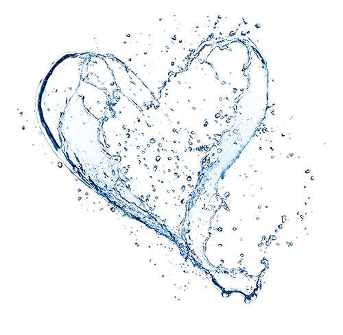 Wasserspritzer Herz